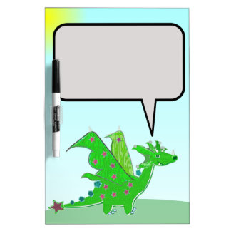 Cute Dragon Cartoon Dry-Erase Board