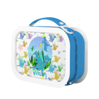 Cute Dragon Pattern customizable kid's name Jimmy Lunchboxes