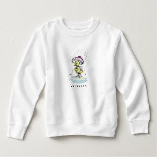 Cute duck on toddlers fleece sweatshirt