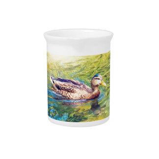 Cute Duck Swimming Pitcher