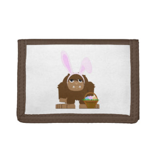 Cute Easter Bigfoot Trifold Wallets
