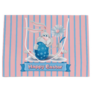 Cute Easter Bunny Gift Bag - Large, Glossy