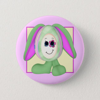 Cute Easter Egg Bunny 6 Cm Round Badge
