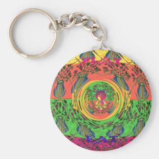 Cute Eat Love Play Hakuna Matata Colors.png Key Ring