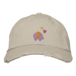 cute elephant baseball cap