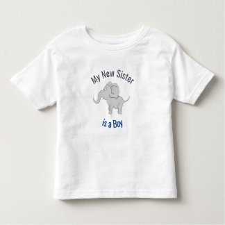 Cute Elephant | New Sister is a Boy Toddler T-Shirt