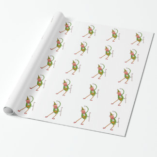 Cute Elf Christmas Wrapping Paper