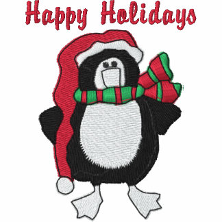 Cute Embroidered Holiday Penguin Sweatshirts, Tees