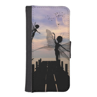 Cute fairy dancing on a jetty iPhone SE/5/5s wallet case