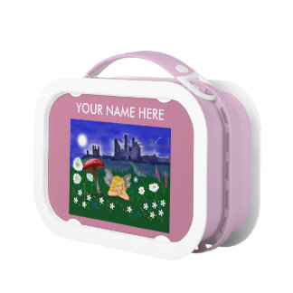 """""""Cute Fairy"""" pink girls kids customise Lunch Box"""