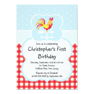 Cute Farm Barnyard Animal Birthday Invitations