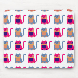 Cute Fat Kitty Cats Pink Melon Blue Unique Gifts Mouse Pad