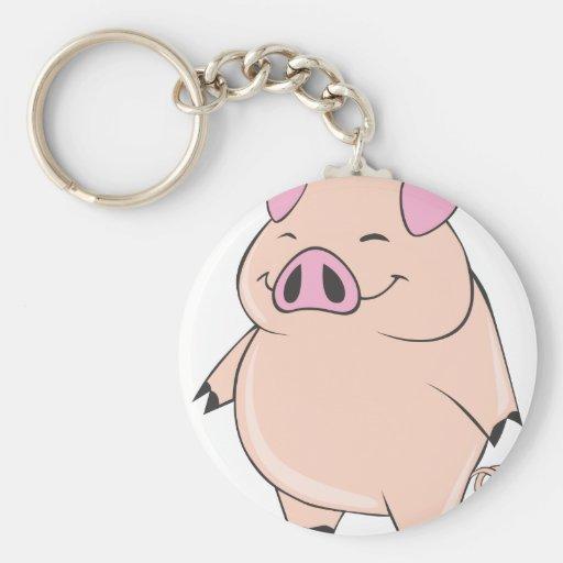 Cute Fat Pig Keychain