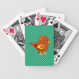 Cute fire bird deck of cards