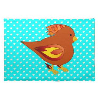 Cute fire bird placemats