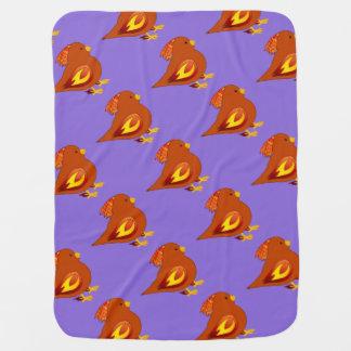 Cute fire bird pramblankets