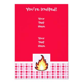 Cute Fire Flame 5x7 Paper Invitation Card
