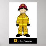 Cute Fireman Poster