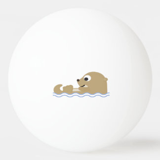 Cute Floating Otter Ping Pong Ball