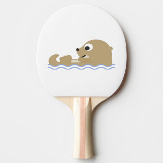 Cute Floating Otter Ping Pong Paddle