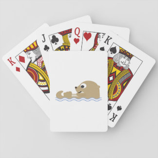 Cute Floating Otter Playing Cards