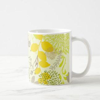 cute floral animals coffee mug