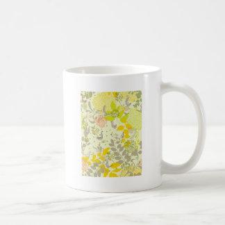 cute floral animals basic white mug