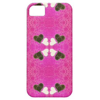 Cute Florescent Pink Heart Abstract iPhone 5 Cases