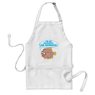 Cute flounder fish apron