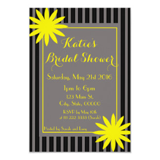Cute Flower and stripes invitation