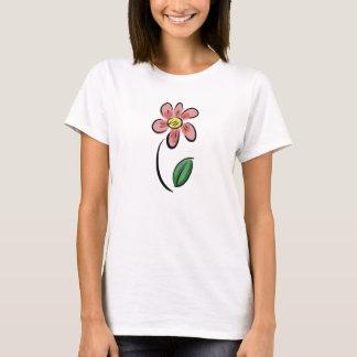 Cute flower cartoon floral sketch doodle T-Shirt