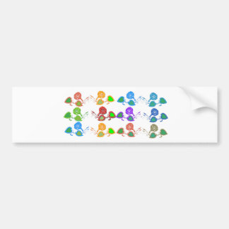 CUTE Flower Show for KIDS n GIRLY Moms Bumper Stickers