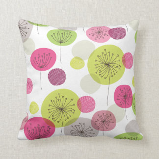 Cute flowers retro abstract pattern design cushion