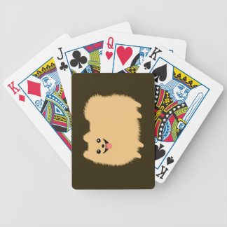 Cute Fluffy Smiley Face Pomeranian Poker Deck