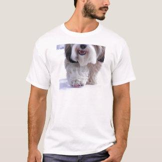 Cute Fluffy Tibetan Terrier Snow Paw T-Shirt