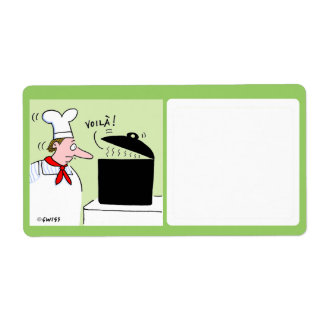 Cute Food Storage Label Shipping Label