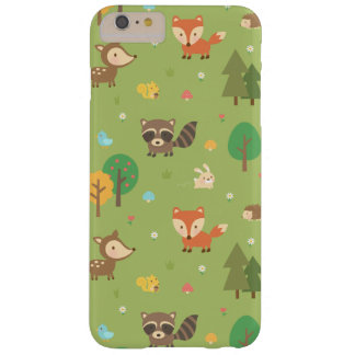 Cute Forest Woodland Animal Pattern Barely There iPhone 6 Plus Case