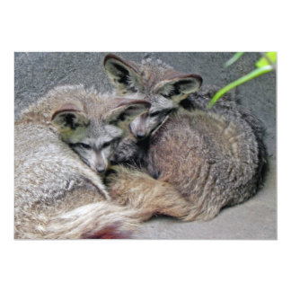 Cute Fox Couple Sleeping Photo Custom Invitation