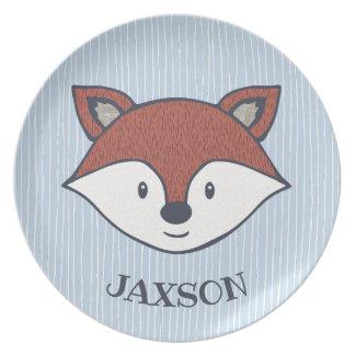 Cute Fox Personalized Woodland Friend Plate