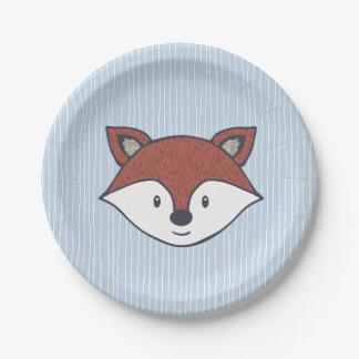 Cute Fox Woodland Theme Shower Plates