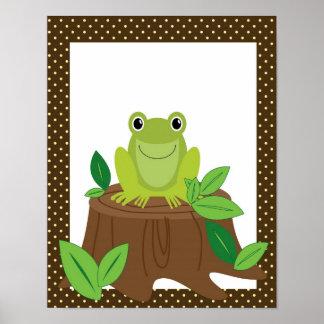 Cute frog nursery art poster