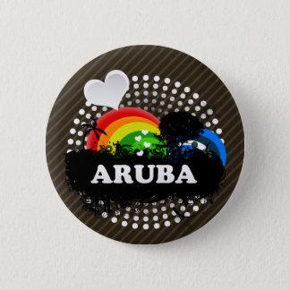 Cute Fruity Aruba 6 Cm Round Badge