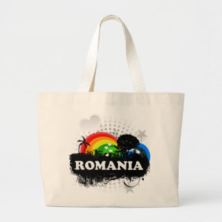 Cute Fruity Romania Large Tote Bag