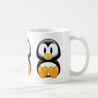 Cute Funny Baby Penguin Basic White Mug