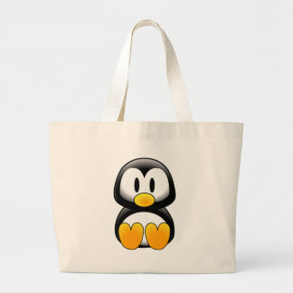 Cute Funny Baby Penguin Large Tote Bag