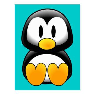 Cute Funny Baby Penguin Postcard