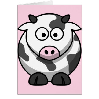 Cute Funny Cow Card