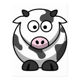 Cute Funny Cow Postcard