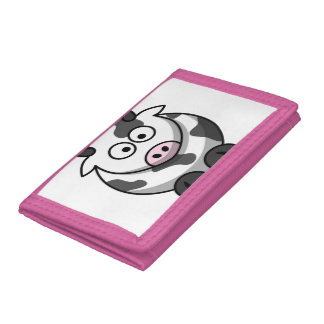 Cute Funny Cow Trifold Wallets