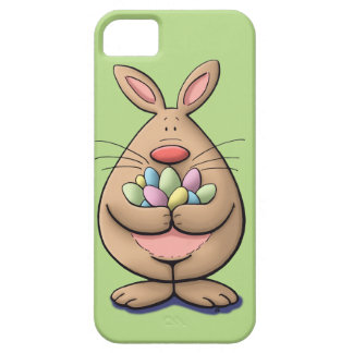 cute & funny easter bunny holding eggs cartoon iPhone 5 cover